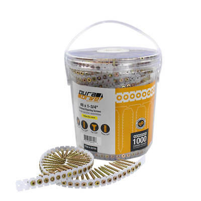 DuraDrive #8 x 1-3/4 in.Yellow Zinc-Plated Flat-Head Flooring Screws -1,000-Pack