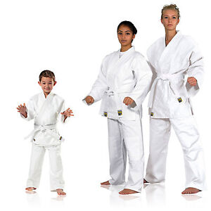 Judoanzug-Karate-Ju-Jutsu-Teakwondo-Randori-KWON-weiss-mittelschwer-120-200