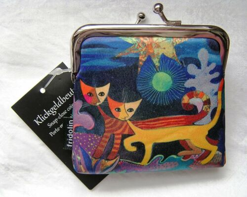 Rosina Wachtmeister Geldbörse, Klingelbeutel Katzen Wonderland,  Etikett
