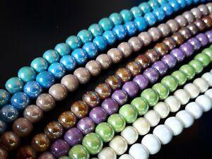 1 A 20 Sartas Kugeln Keramik Konten Farben Perlen Armbänder Halsketten