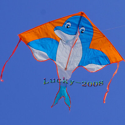 NEW 59-inch dolphins colorful kite Outdoor fun Sports Children's toys detla kite
