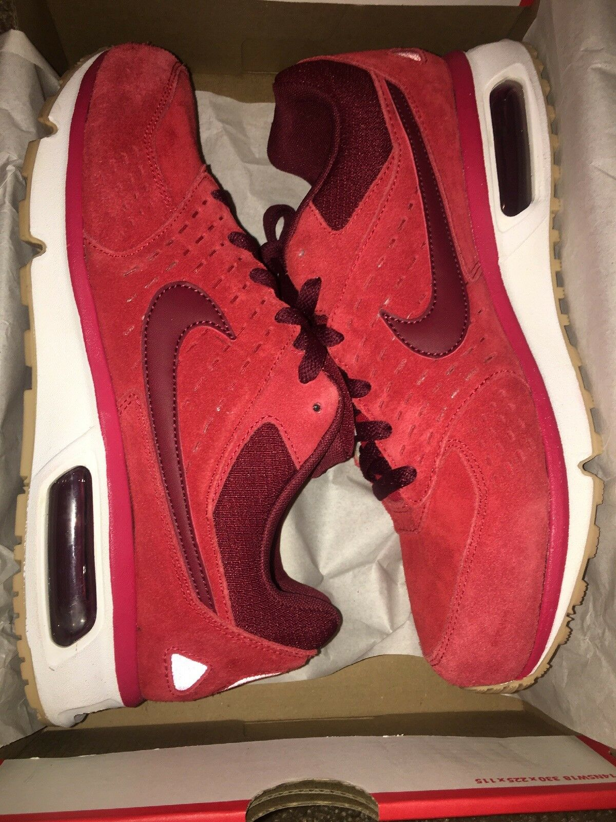 New Mens Nike Air Solace 103 Size 9 Red Maroon Off White Gum 652984-600 RARE  DS