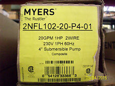 MYERS 1HP SUBMERSIBLE WELL PUMP 2NFL102-20