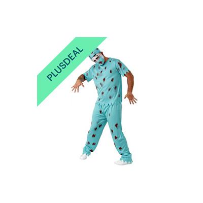 Zombie Chirurg Kostüm für Herren Halloween Horror Party Arzt Doktor Gr. M - XXL