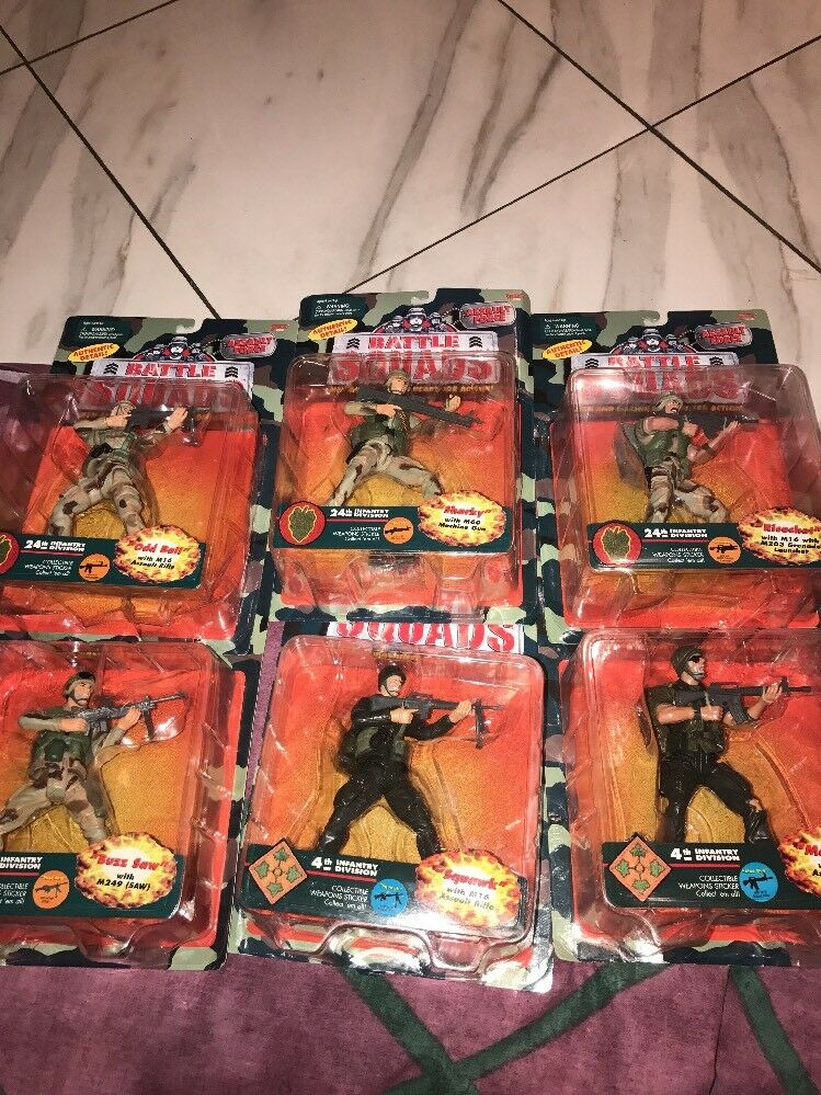 Galoob Battle Squads 4th+24th Infantry Division Huge Lot Figures Buzz Saw More