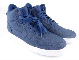 758a042b Nike Court Borough Mid Men's Size 11 Denim Blue White Sneakers Shoes ...