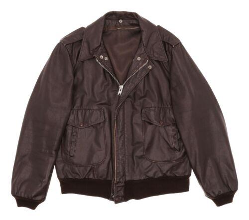 Vintage SCHOTT Leather Motorcycle Jacket XL Mens A