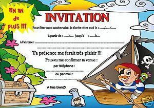 5 12 14 Cartes Invitation Anniversaire Pirate Ref 341 Ebay