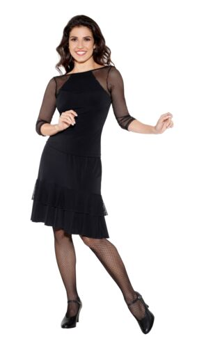 So Danca E11233 Damen Ballroom Standard Latein Tanz Shirt Fishnet Mesh