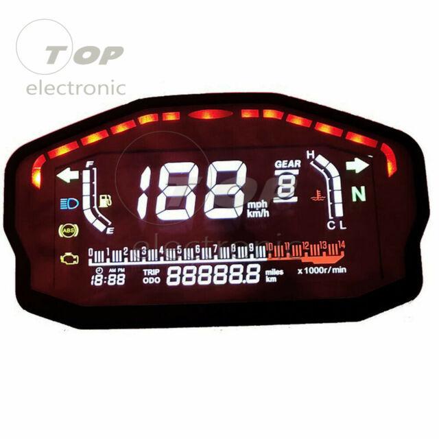 Universal Motorcycle Speedometer Odometer Digital Led