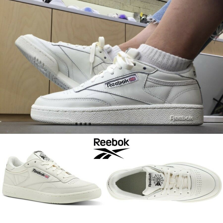 Reebok Classics Club C 85 shoes Sneakers White Navy CN5374 SZ4-12