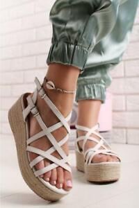 Zapatos-Sandalias-de-Mujer-Cuna-Plataforma-Cuerda-Correa-Tobillo-Sommer