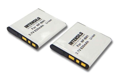 AKKU fuer SONY Cybershot DSC-W730 DSC-WX5 2 Stück|630mAh DSC-WX7