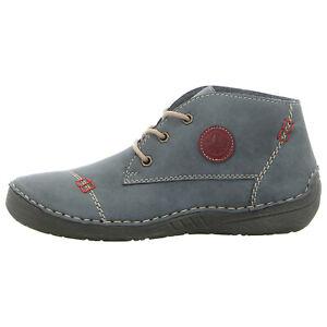 Details zu RIEKER Schuhe Schnürschuh 52540 14 blau NEU
