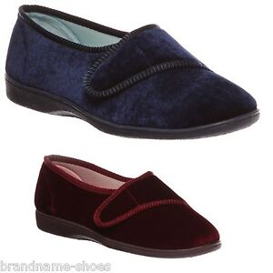 WOMENS-GROSBY-LILIAN-DEEP-NAVY-WINE-RED-MOCCASINS-WARM-SHOES-SLIP-ON-SLIPPERS