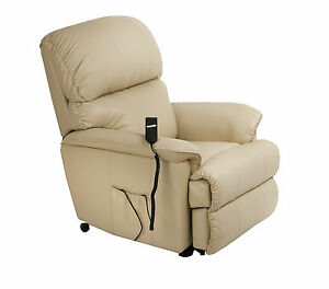 Image is loading Canterbury-Leather-Electric-Rise-Recliner-Chair-Riser-with-  sc 1 st  eBay & Canterbury Leather Electric Rise Recliner Chair Riser with heat ... islam-shia.org