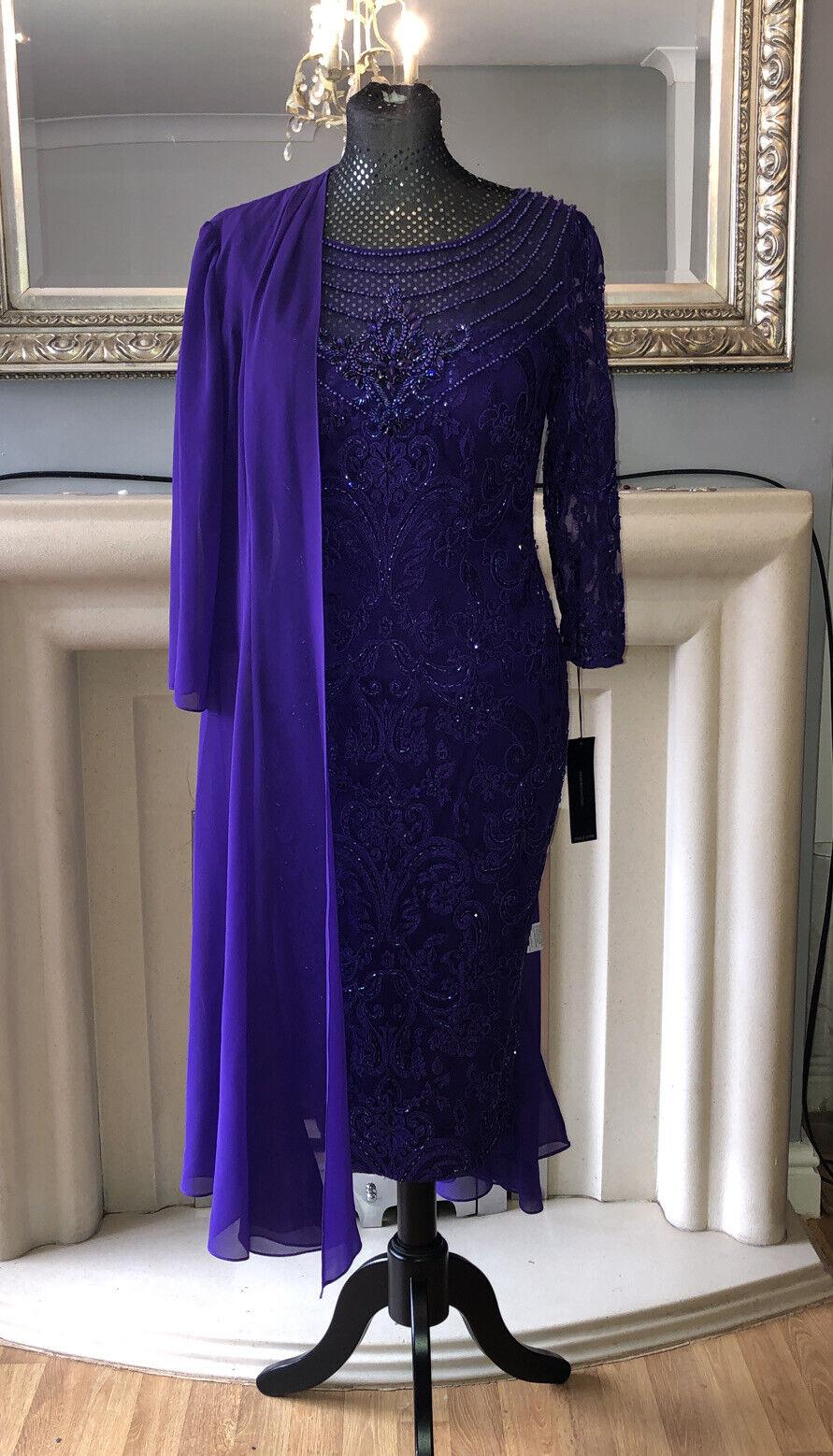 veni infantino 991329 Indigo Purple Sz 10 Bnwt Rrp Mother Of The Bride