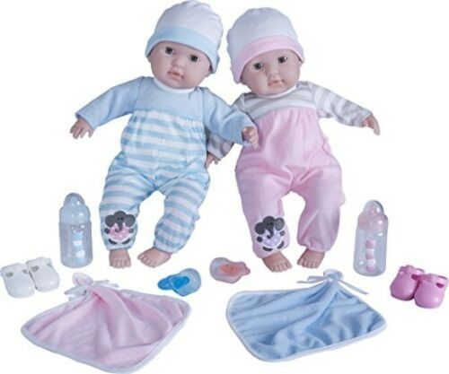 "Kids Baby Doll Twins Soft Body 15/"" Boy Girl Pretend Play Set Toddler Gift New"