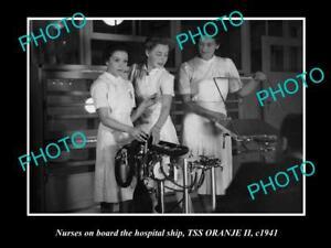 OLD-HISTORIC-PHOTO-OF-THE-AUSTRALIAN-NAVY-HOSPITAL-SHIP-SS-ORANJE-1941-NURSES-3