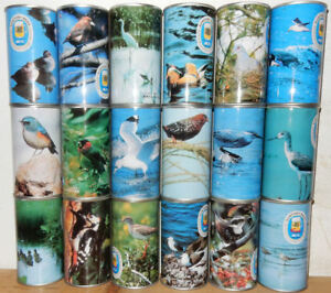SUNTORY BIRDS Complete set of 18 Straight Steel cans from JAPAN (35cl)