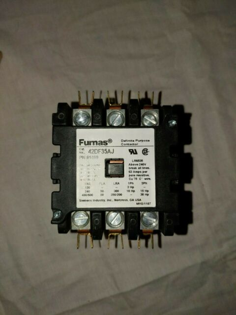 NEW SIEMENS 4 POLE DEFINITE PURPOSE CONTACTOR 120V COIL