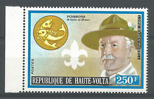 Haute-Volta-1974-319-Scoutisme-Baden-Powell-Zodiaque-Poissons-Pfadfinder