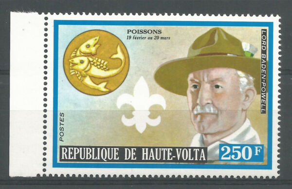 Haute-volta 1974 319 ** Scoutisme Baden-powell Zodiaque Poissons Pfadfinder Fabrication Habile
