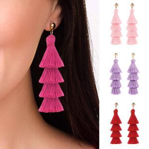 Fashion-Long-Tassel-Fringe-Multilayer-Dangle-Earrings-Drop-Women-Jewelry-Gifts