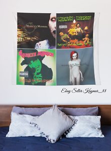 MARILYN MANSON HUGE 4x4 BANNER Fabric Poster Tapestry Flag Album Montage CD
