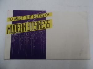c 1930s woodstock typewriter foldout brochure modern business