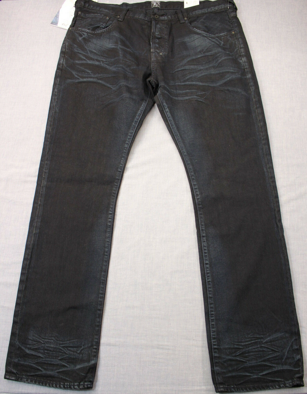 PRPS Demon Mens Enzyme bluee Faded Wash Slim Fit Straight Jeans NWT 40 x 34