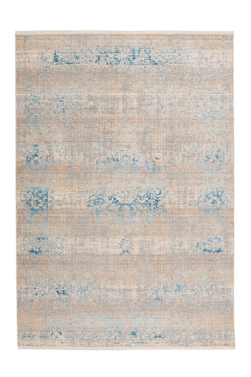 Vintage fioritures Tapis d'ornement design moderne Beige Turquoise Bleu 160x230cm