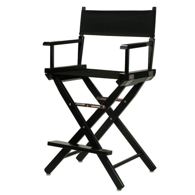 Prime Casual Home 24 Directors Chair Black Frame With Black Canvas Counter Height Unemploymentrelief Wooden Chair Designs For Living Room Unemploymentrelieforg