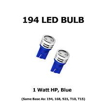 (2) 194 LED Bulbs - HP 1 Watt, Blue - Same Base as 168, 921, T10, T15