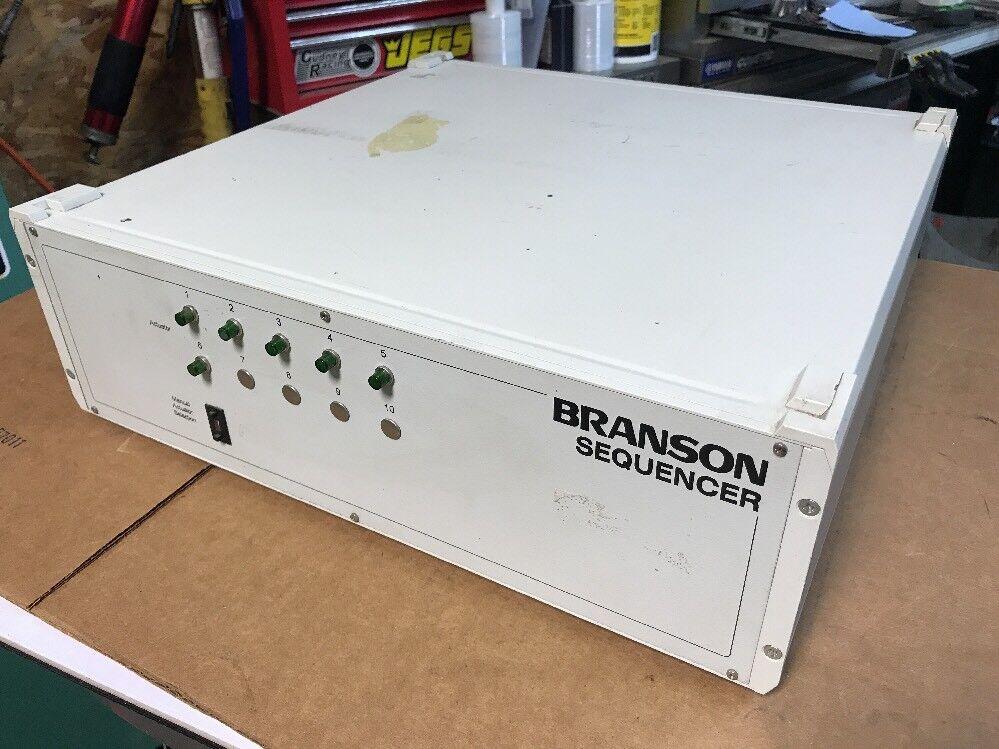 Branson Ultrasonic Welding Sequencer 109-111-479 6-Channel 40KHz FAST SHIPPING