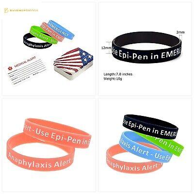 Baiyi 4 Pack Anaphylaxis Alert Bracelet