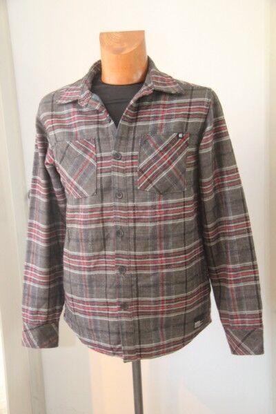 Original ETNIES Veste légère ou chemise carreaux homme size S neuf