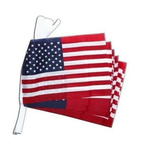 Giant Country Flag Bunting Union Jack Happy Birthday USA Wales 18m 30 Flags
