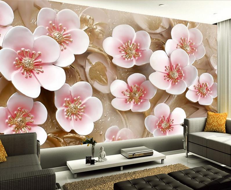 3D Schöne Blaumen 90734 Tapete Wandgemälde Tapete Tapeten Bild Familie DE Summer | Exquisite (mittlere) Verarbeitung  | Schnelle Lieferung  | Creative