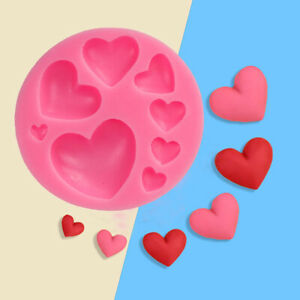 3D Heart Fondant Mold Silicone Cake Decorating Craft Sugar Candy Chocolate Mould