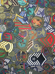 LOT-OF-15-Assorted-U-S-Military-Army-Air-Force-USAF-Patches-Insignia-New-NOS