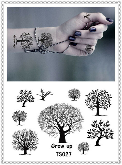 A 029 tattoo,body,black and white,colour,party,women,men,tree, stickers