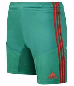 New-adidas-Campeon-mens-Climacool-Shorts-Sz-S-M-L-Green-football-gym-sports