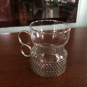 Timo Sarpaneva For Iittala Tsaikka Metal Glass Hot Drink Cup Finland Ebay