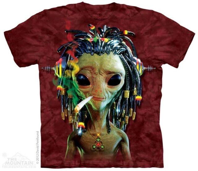 New SMOKIN JAHMAN RASTA ALIEN T Shirt
