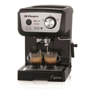 Cafetera-Expresso-Orbegozo-EX-5000-frontal-Inox-20-bar-de-presion
