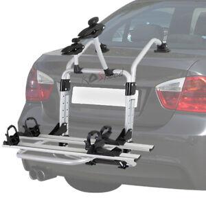 Trunk Mount Bike Rack >> Details About Silver Heavy Duty Rear Trunk Mount Bike Bicycle Rack Carrier Storage Platform