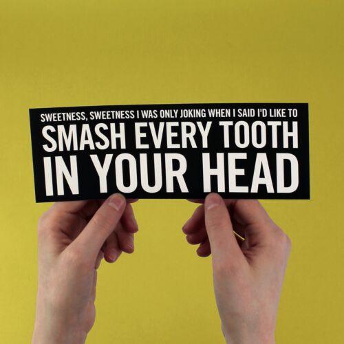 "/"" Bigmouth Strikes Again /"" The Smiths Lyrique Autocollant"