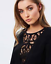 thumbnail 5 - Size 12 Sass - Solitaire Trimmed Dress Black Ladies Womens Short Long Sleeve New