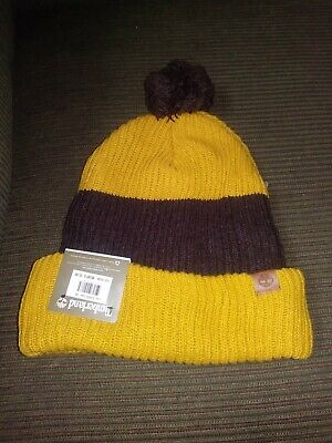a047a8253 Timberland Unisex Adult Cuff Pom Slouch Wheat Brown Beanie Hat One